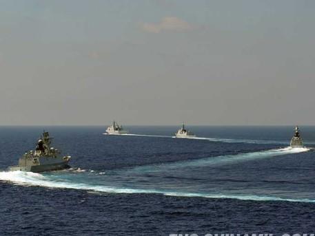 Tàu đổ bộ Jinggangshan, tàu khu trục Lan Châu, Yulin và Hành Thủy