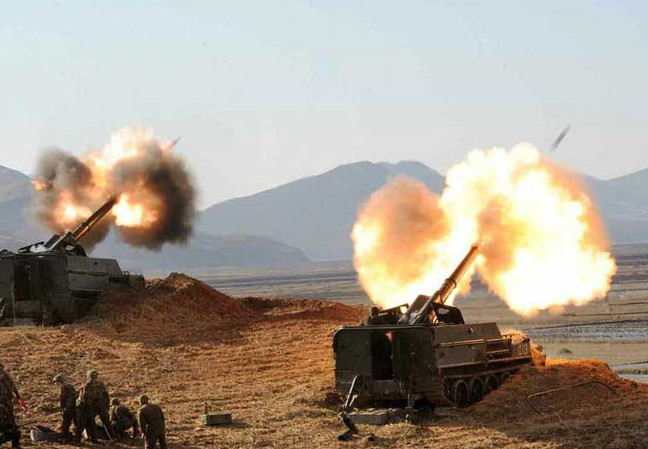 Triều Tiên tập trận 'tấn công Hàn Quốc'