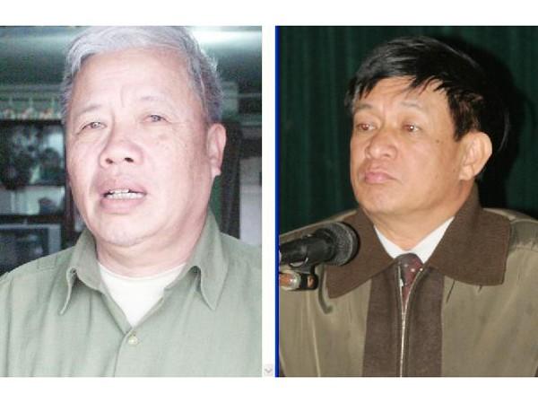 Ông Vũ Xuân Đợi (trái) tố ông Lê Văn Hiền khai gian lý lịch Đảng