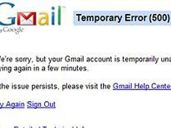 Hàng triệu người không thể truy cập Gmail