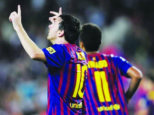 Lionel Messi không chỉ giúp Barca chiến thắng mà còn ghi thêm những kỷ lục mới vào bảng vàng cá nhân.  Ảnh: Getty Image