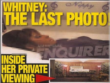 Ảnh Whitney Houston nằm trong quan tài