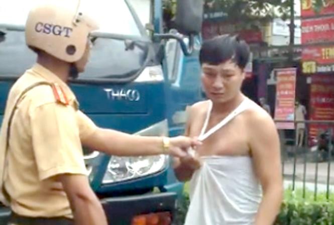 Cảnh xô sát xảy ra tại đường Trần Hưng Đạo