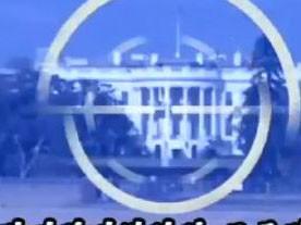 Ảnh chụp từ clip: Nhà Trắng của Mỹ bị nhắm bắn