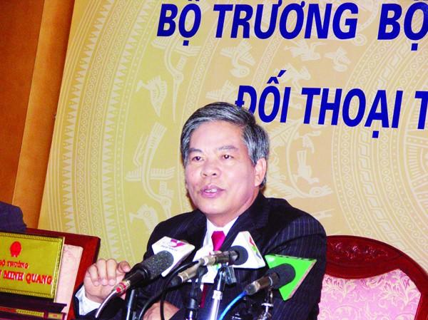 Bộ trưởng TN&MT Nguyễn Minh Quang tại buổi giao lưu Ảnh: N.T