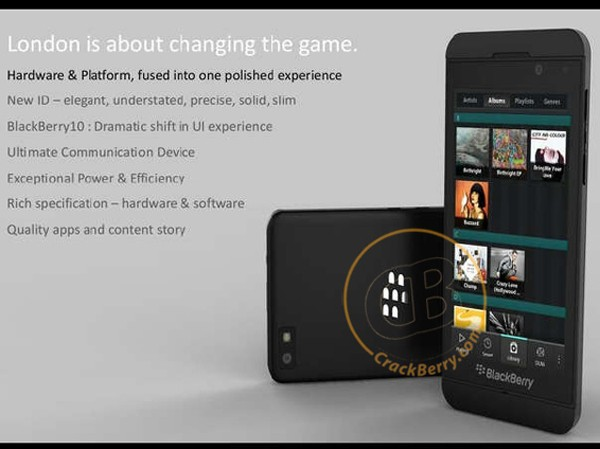 Lộ diện smartphone BlackBerry 10 mới