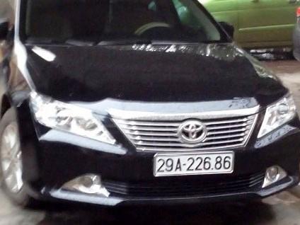 Chiếc xe Camry sang trọng nhưng lắp biển số giả của Đội phó CSGT huyện Đồng Hỷ, Thái Nguyên