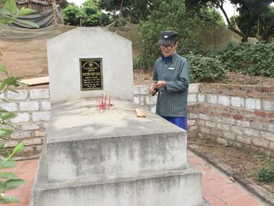 Không có nghĩa trang, hài cốt liệt sĩ an táng ở vườn