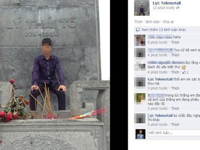Nam sinh ngồi tượng vua Lý mất ngủ vì bị 'ném đá'