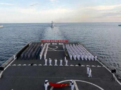 Hình ảnh tàu đổ bộ Trung Quốc ở bãi ngầm James hôm 26-3
