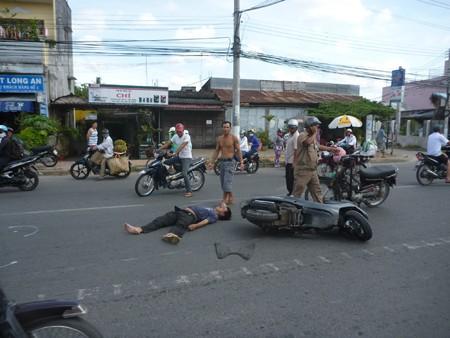 Tai nạn giao thông, một người nhập viện
