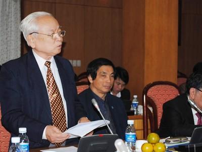 Luật sư Nguyễn Trọng Tỵ góp ý Điều 4 Hiến pháp Ảnh: Tuấn Minh