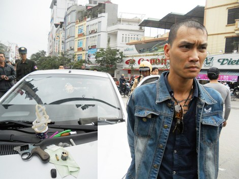 Đối tượng Nguyễn Anh Tuấn và tang vật bị thu giữ