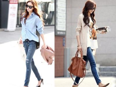 Cuối tuần xuống phố cực chất với quần jeans