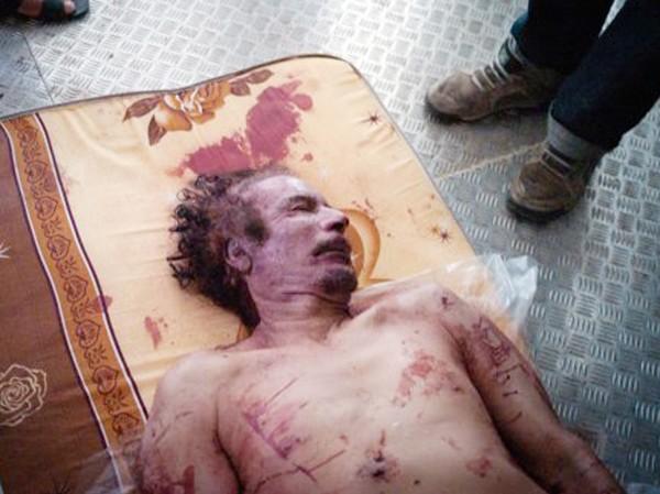 Thi thể ông Gaddafi được cất giữ tại gian đông lạnh của một siêu thị