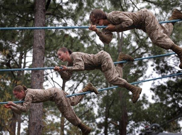 Những 'bóng hồng' Thủy quân Lục chiến Mỹ
