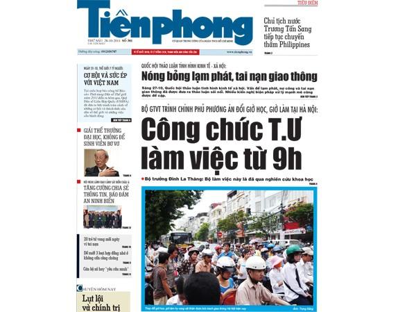 Đón đọc Tiền Phong ngày 28-10