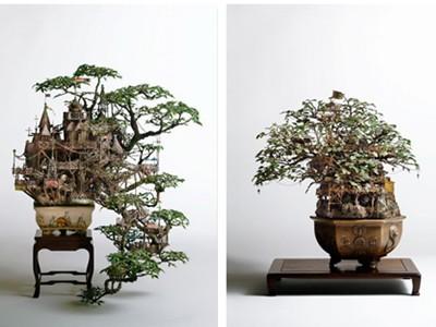 Những lâu đài 'khủng' trên cây bonsai