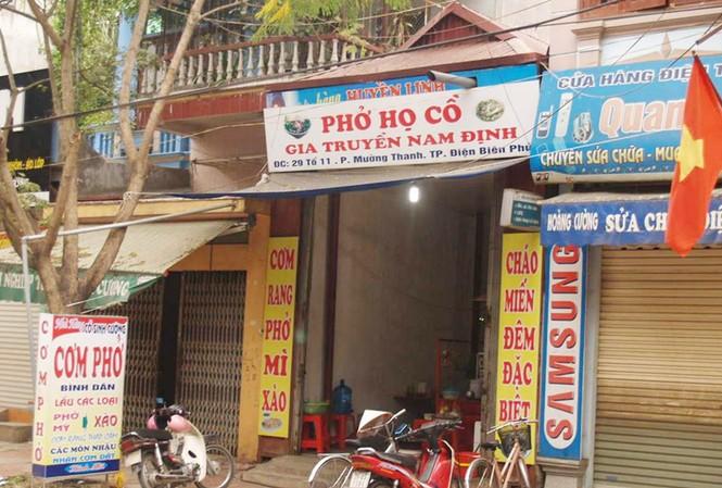 Quảng cáo phở Cồ Nam Định ở Điện Biên