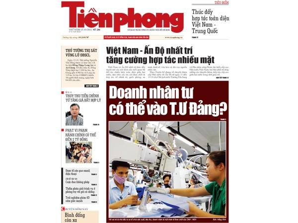 Đón đọc Tiền Phong nhật báo 286