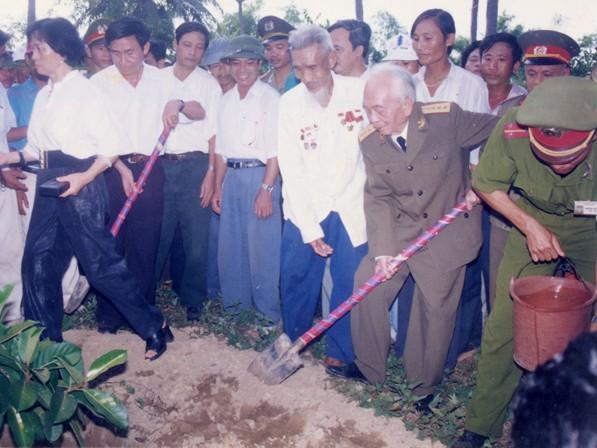 Đại tướng Võ Nguyên Giáp và lần về thăm quê cuối cùng