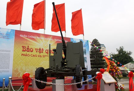 Pháo cao xạ 37mm trở thành Bảo vật quốc gia