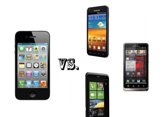 iPhone 4S 'đọ tài' với các đối thủ