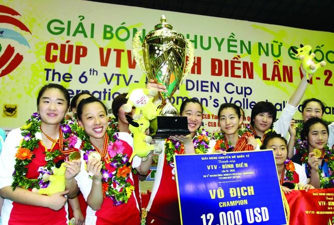 Các cô gái Giang Tô đã để lại ấn tượng đẹp ở VTV Cup năm nay Ảnh: VSI