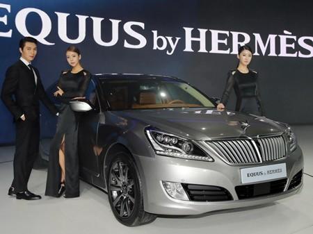 Đẳng cấp thời trang Hermes trên Hyundai Equus