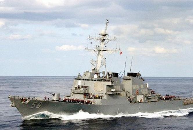 Chiến hạm Mỹ USS John S.McCainẢnh: inewscatcher.com