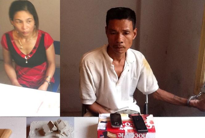 Hai đối tượng Minh và Lượng cùng số ma túy bị thu giữ