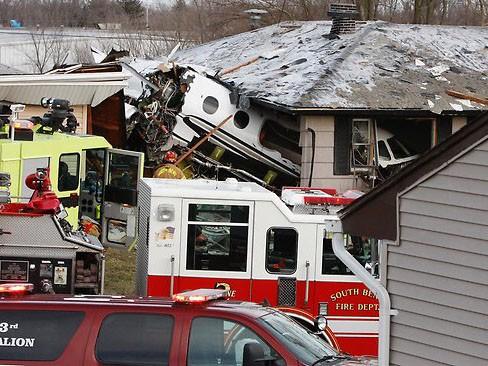 Hiện trường vụ tai nạn máy bay ở Indiana, Mỹ
