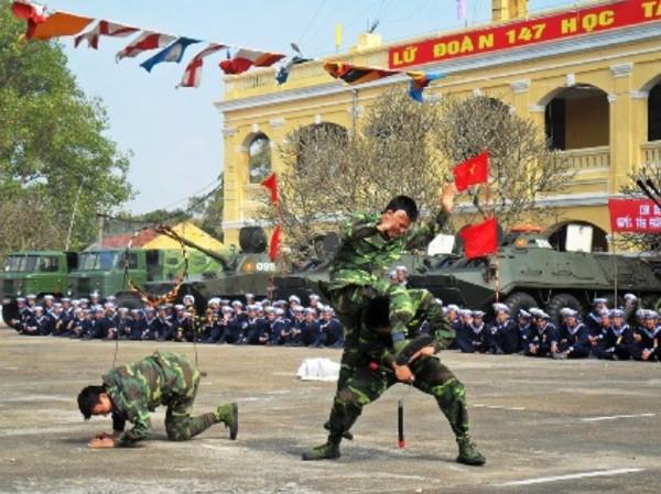 Lính Hải quân Tiểu đoàn 473 luyện tập. Ảnh: Trịnh Dũng