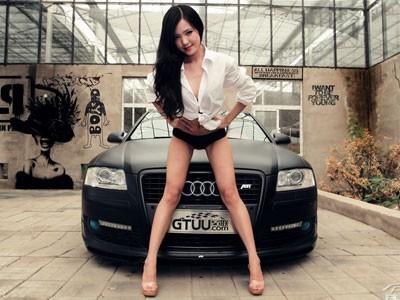 Mỹ nữ quyến rũ bên Audi A8L