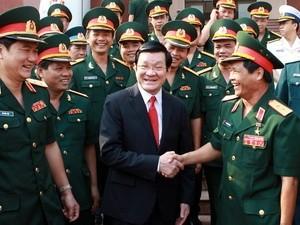 Chủ tịch nước dự lễ khai giảng Học viện Quốc phòng