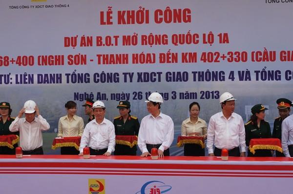 Thủ tướng bấm nút khởi công dự án