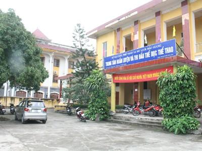 Trung tâm TDTT Bắc Giang, nơi Xuân đang làm việc