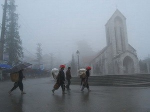 Không khí lạnh ở tỉnh Lào Cai đạt ngưỡng cực đại