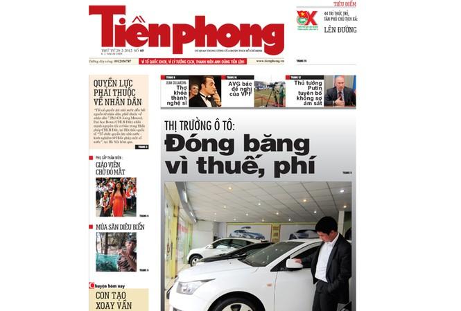 Tin bài hấp dẫn trên Tiền Phong nhật báo 29-2