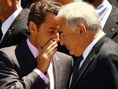 Ông Sarkozy và ông Strauss-Kahn trong một cuộc gặp gỡ