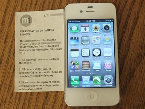 iPhone không camera được bán tại Singapore