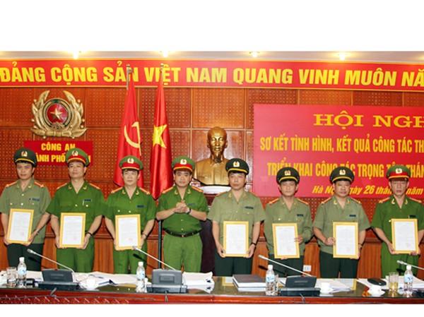 Giám đốc Công an TP Hà Nội tại lễ bổ nhiệm