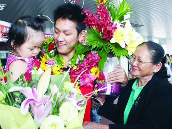 Không ai ngờ sau ngày trở về trong vinh quang từ SEA Games 26, Hoàng Quý Phước lại gặp nhiều lận đận trong chuyến tập huấn quan trọng ở Mỹ  Ảnh: Nguyễn Huy