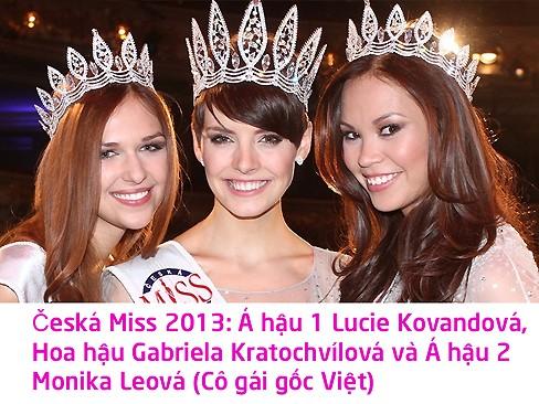 Hoa hậu Séc 2013: Cô gái gốc Việt giành giải Á hậu 2