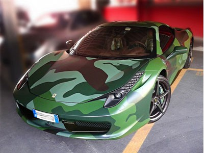 Ferrari 458 khoác 'áo lính'