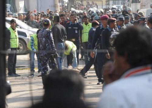 Cảnh sát Nepal đang phong tỏa hiện trường