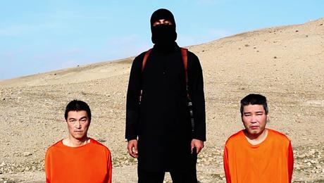 Hình ảnh chụp từ video đe dọa hôm 20/1 của tổ chức phiến quân IS. Ảnh: Daily Mail