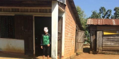 Ngôi nhà tồi tàn của gia đình nạn nhân