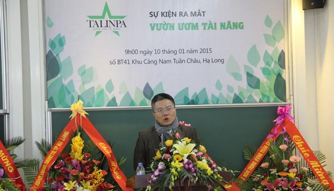 GS Ngô Bảo Châu tại lễ ra mắt Vườn ươm tài năng. Ảnh: Công Khanh.