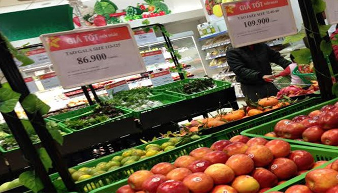 Táo Gala (Mỹ) bán ở Việt Nam được cho là nhập từ Washington, nơi táo không bị nhiễm khuẩn. Ảnh: Nguyễn Hà.